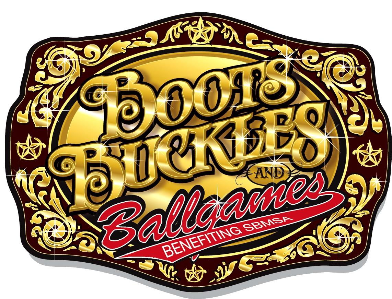 Boots, Buckles, and Ballgames logo
